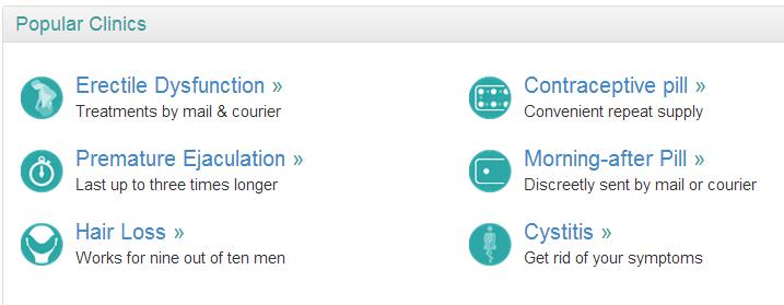 """Kommunikation """"to the point"""". Online-Ärzte werden in England eher als Lifestyle und weniger Medizin verstanden. (Screenshot https://www.dred.com/uk/ vom 1.7.2014)"""